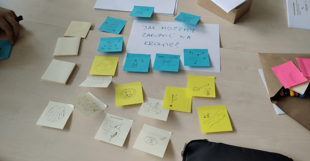 Kurs Moderatora Design Thinking. Rysowana burza mózgów