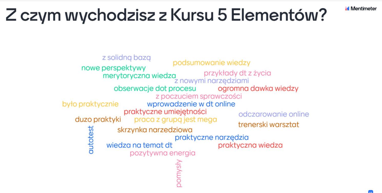 Kurs 5 elementów - podsumowanie