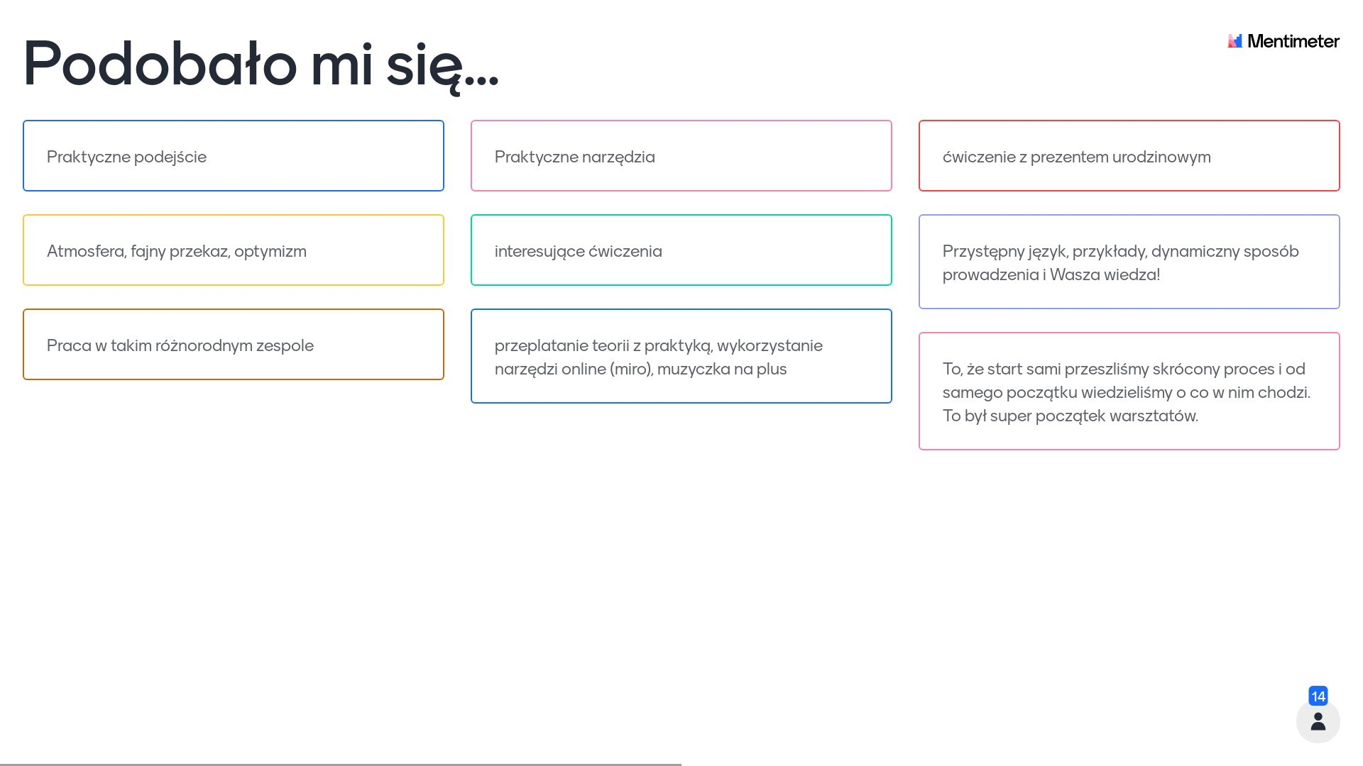 71. Kurs Moderatora Design Thinking - feedback